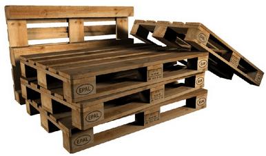 Palletspoed - Gebruikte pallets